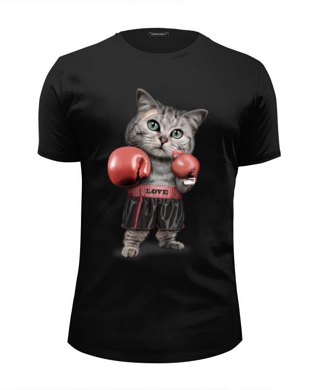 Футболка Wearcraft Premium Slim Fit Printio Кот боксёр футболка wearcraft premium slim fit printio кот суши