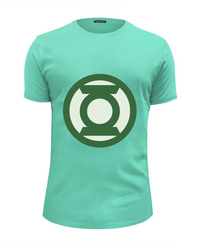 Футболка Wearcraft Premium Slim Fit Printio Зеленый фонарь
