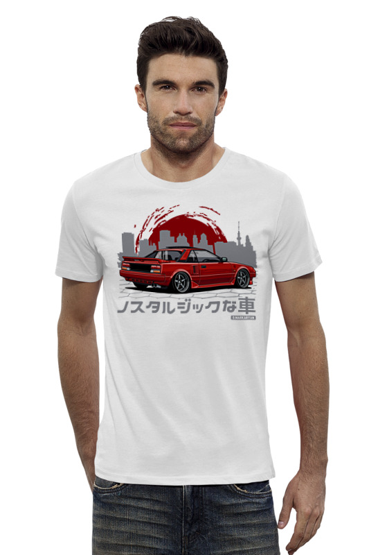 Футболка Wearcraft Premium Slim Fit Printio Toyota mr2 fx mr2 sensor mr li