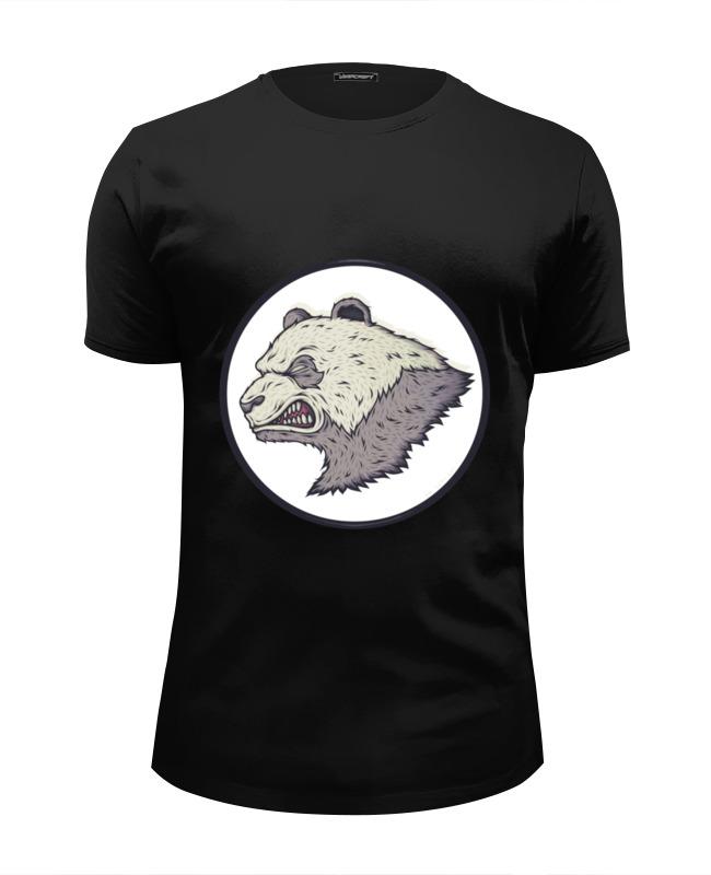 все цены на Футболка Wearcraft Premium Slim Fit Printio Angry panda / злая панда в интернете