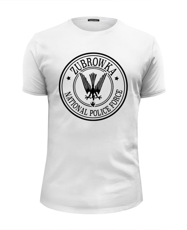 Футболка Wearcraft Premium Slim Fit Printio Полиция зубровки футболка wearcraft premium slim fit printio зубровка отель гранд будапешт