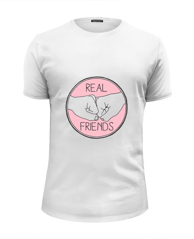 Футболка Wearcraft Premium Slim Fit Printio Real friends футболка wearcraft premium printio real friends