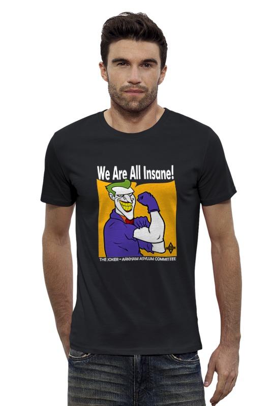 Футболка Wearcraft Premium Slim Fit Printio Joker (we are all insane) футболка wearcraft premium slim fit printio we are weird and the wonderful