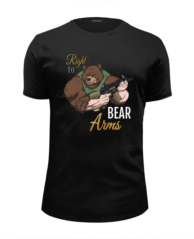 Футболка Wearcraft Premium Slim Fit Printio Bear arms футболка wearcraft premium printio man at arms