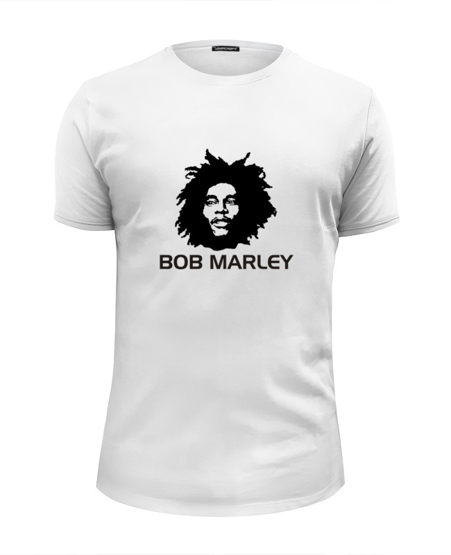 Футболка Wearcraft Premium Slim Fit Printio Marley bob marley bob marley live