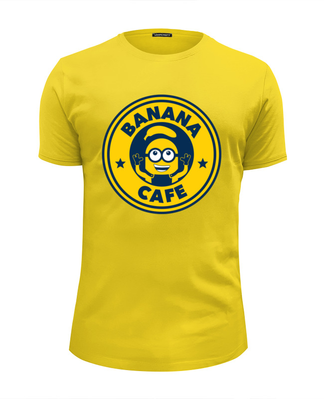 цены Футболка Wearcraft Premium Slim Fit Printio Banana cafe (minion)