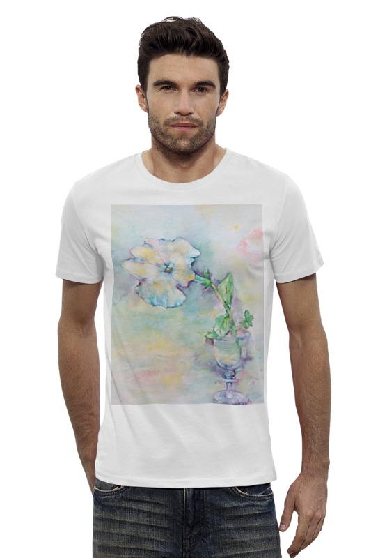Футболка Wearcraft Premium Slim Fit Printio Белая мальва футболка wearcraft premium slim fit printio муравьед с цветами