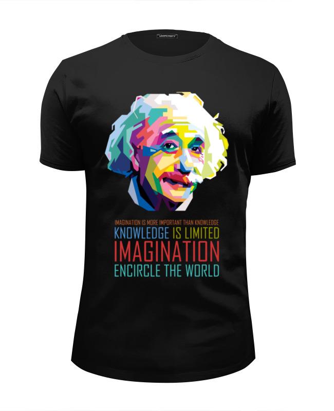 Футболка Wearcraft Premium Slim Fit Printio Альберт эйнштейн альберт эйнштейн леопольд инфельд эволюция физики
