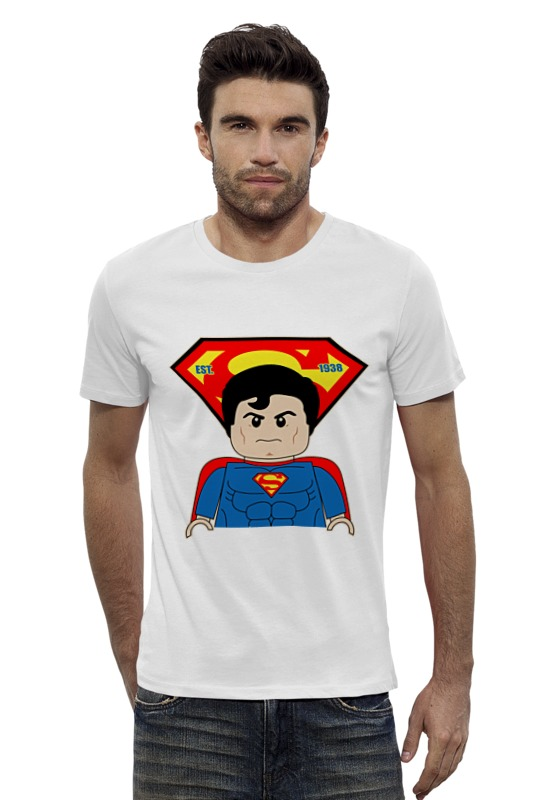 Футболка Wearcraft Premium Slim Fit Printio Лего супермен футболка wearcraft premium slim fit printio мстители лего