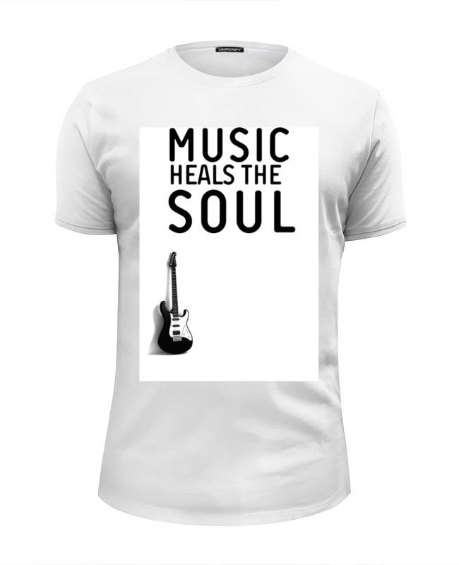Футболка Wearcraft Premium Slim Fit Printio Music heals the soul футболка brave soul brave soul br019emabok2