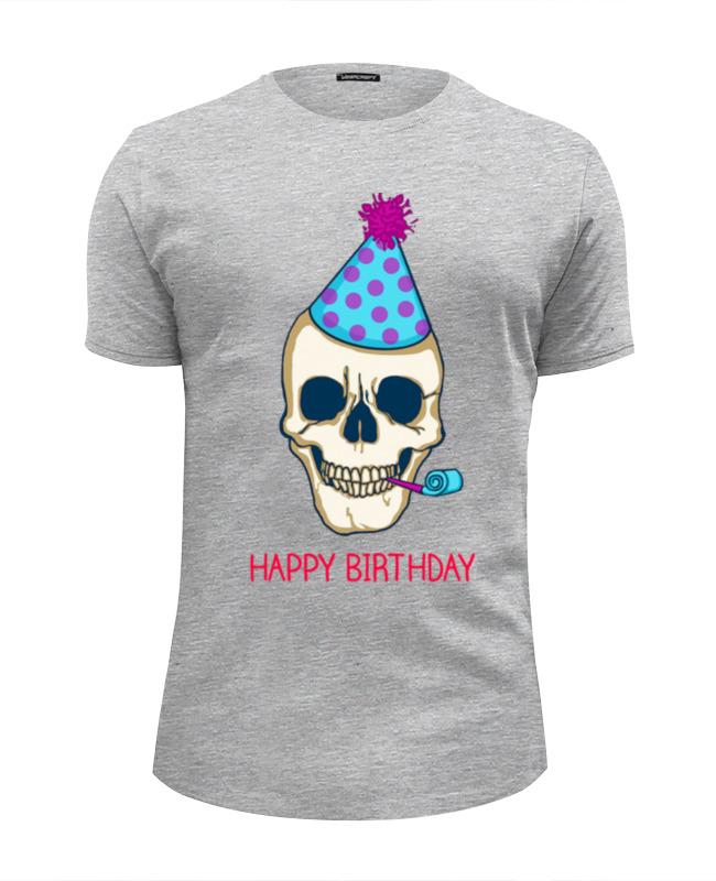 Футболка Wearcraft Premium Slim Fit Printio Череп - с днём рождения футболка wearcraft premium slim fit printio день рождения