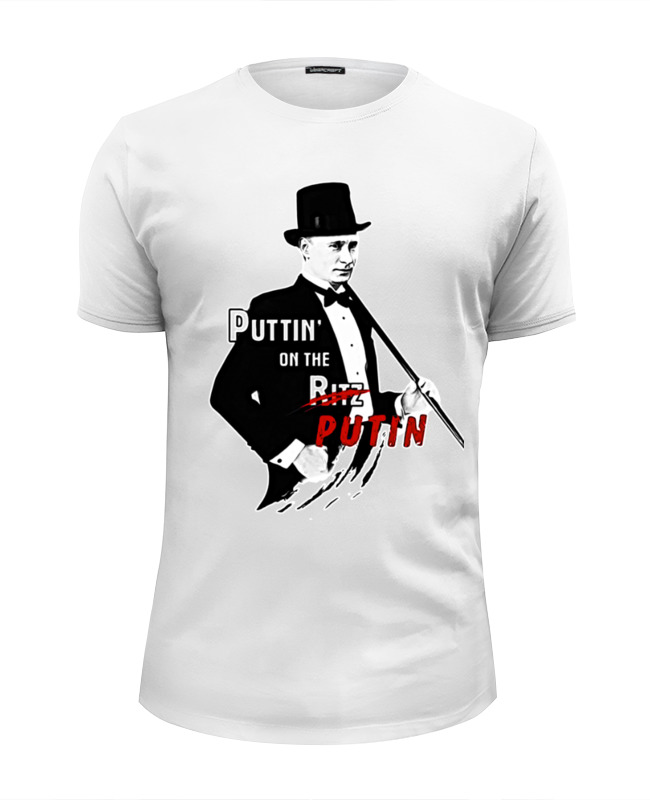 цена Футболка Wearcraft Premium Slim Fit Printio Puttin on the putin