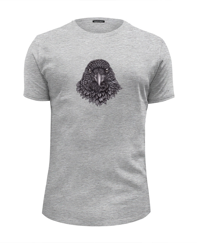 Футболка Wearcraft Premium Slim Fit Printio Портрет ворона футболка wearcraft premium printio ворона