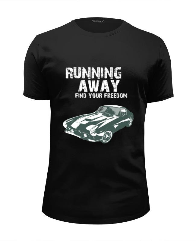 Футболка Wearcraft Premium Slim Fit Printio Running away..find your freedom..автомобиль