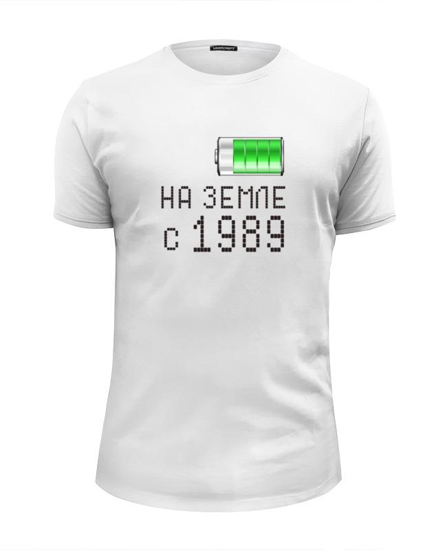 Футболка Wearcraft Premium Slim Fit Printio На земле с 1989 футболка wearcraft premium printio на земле с 1968