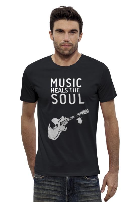 Футболка Wearcraft Premium Slim Fit Printio Music heals the soul soul music