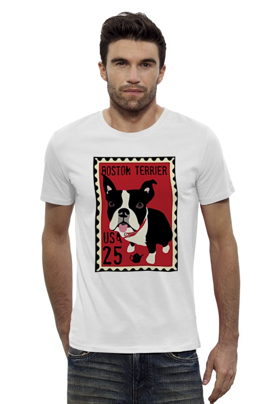 Футболка Wearcraft Premium Slim Fit Printio Boston terrier футболка wearcraft premium slim fit printio йоркширский терьер