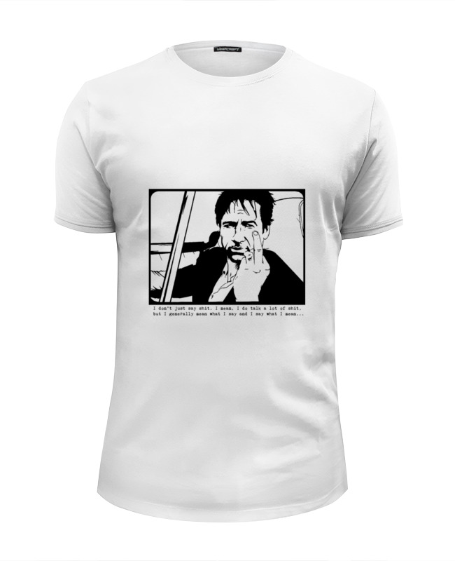 Футболка Wearcraft Premium Slim Fit Printio Hank moody (хэнк муди), californication 50pcs lot on5412