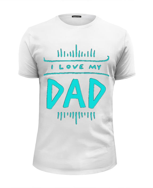 Футболка Wearcraft Premium Slim Fit Printio Я люблю папу футболка wearcraft premium slim fit printio люблю науку