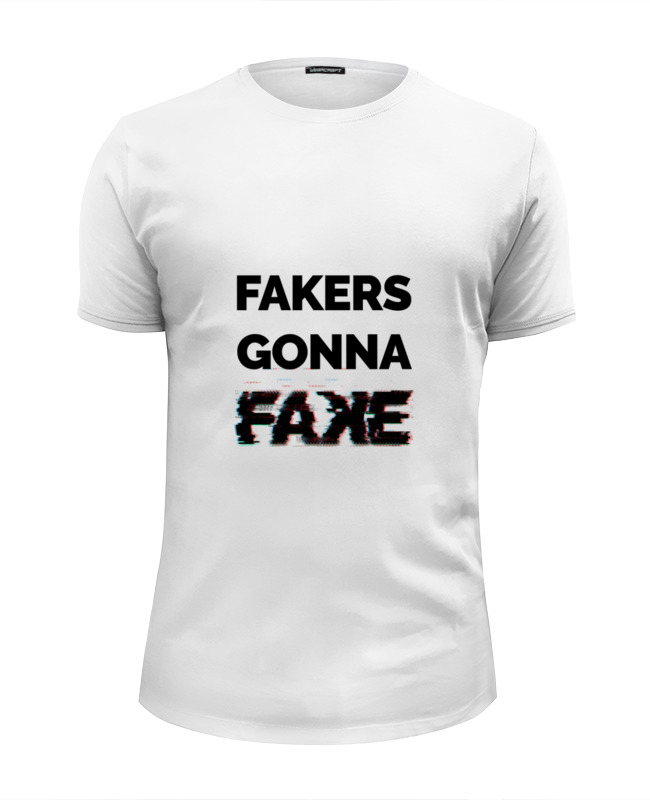 Футболка Wearcraft Premium Slim Fit Printio Fakers gonna fake (taylor swift - shake it off)