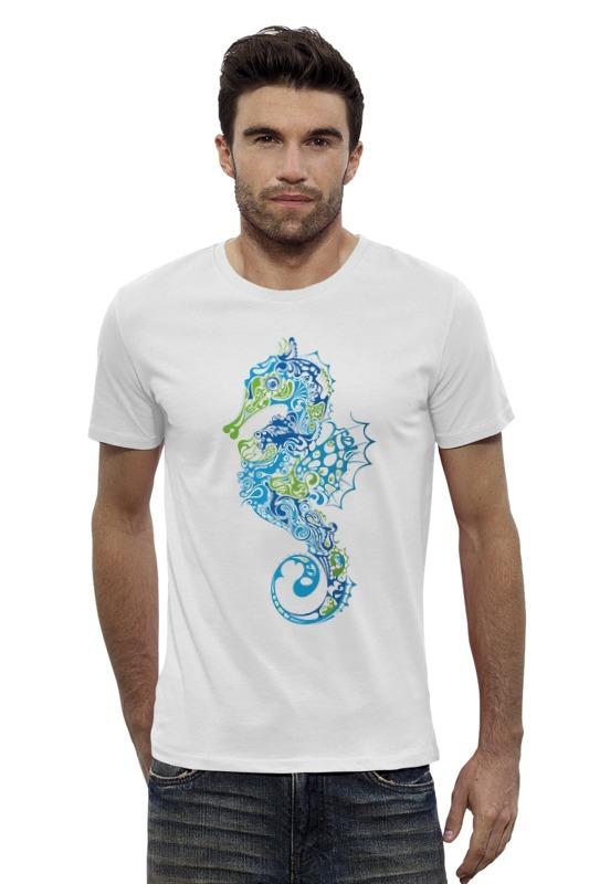 Футболка Wearcraft Premium Slim Fit Printio Морской конек футболка wearcraft premium slim fit printio голубой морской кит кашалот