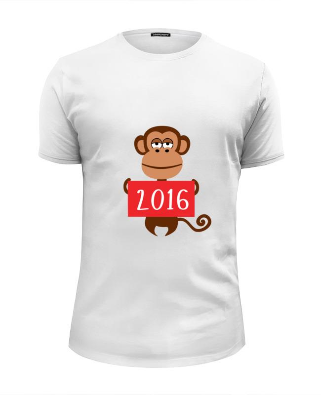 Футболка Wearcraft Premium Slim Fit Printio Год обезьяны 2016 украшение настенное в виде головы обезьяны rudyard
