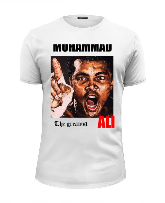 Футболка Wearcraft Premium Slim Fit Printio Muhhamad ali the greatest klassik the greatest melodies