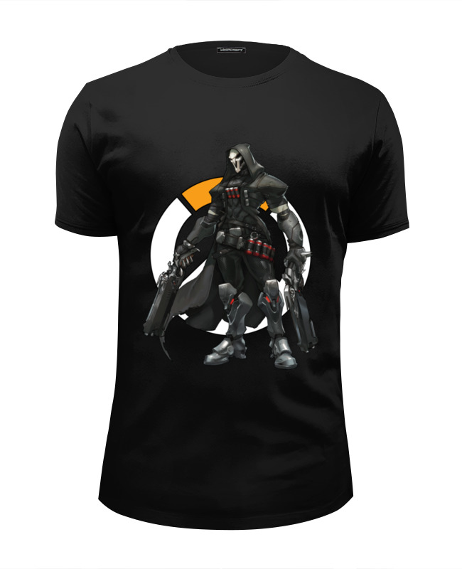 Футболка Wearcraft Premium Slim Fit Printio Overwatch reaper / жнец овервотч