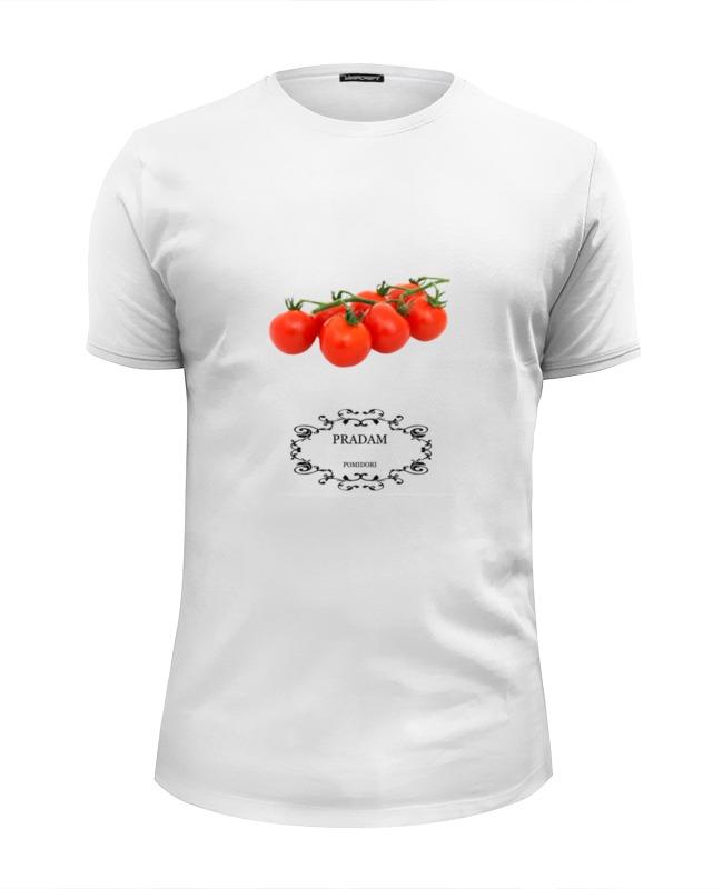 Футболка Wearcraft Premium Slim Fit Printio Fuck fake pradam pomidori сумка printio fuck fake pradam pomidori