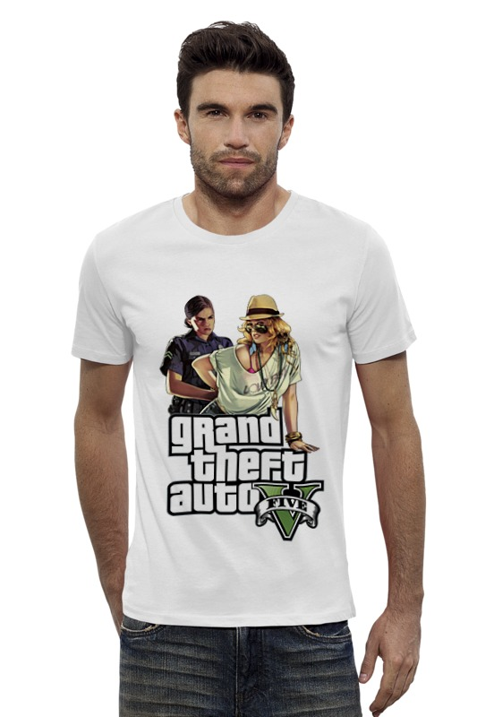 Футболка Wearcraft Premium Slim Fit Printio Gta v girls сумка printio gta v