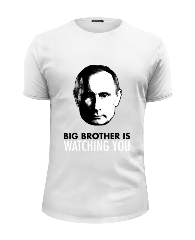 Футболка Wearcraft Premium Slim Fit Printio Big brother putin футболка wearcraft premium slim fit printio putin