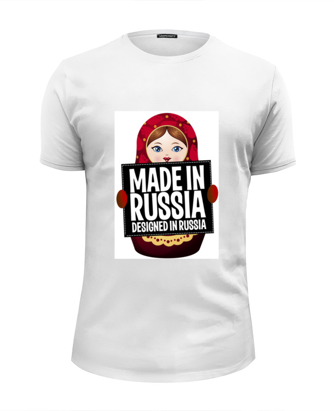 Футболка Wearcraft Premium Slim Fit Printio Made in russia by hearts of russia хазин а icons of russia russia s brand book книга о россии