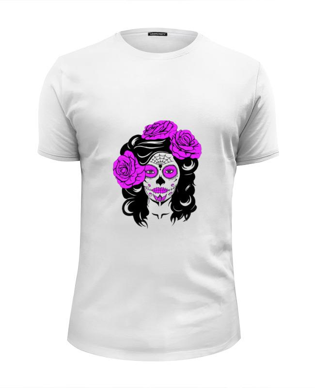 Футболка Wearcraft Premium Slim Fit Printio Девушка (сахарный череп) футболка wearcraft premium slim fit printio сексуальная девушка в молоке