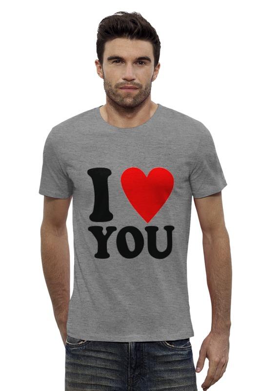 Футболка Wearcraft Premium Slim Fit Printio Я тебя люблю футболка wearcraft premium slim fit printio я люблю мир