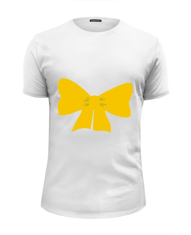 Футболка Wearcraft Premium Slim Fit Printio Желтый бант футболка wearcraft premium printio бант