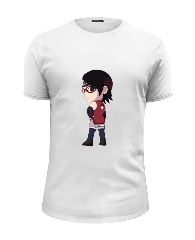 Футболка Wearcraft Premium Slim Fit Printio Сарада учиха футболка учиха