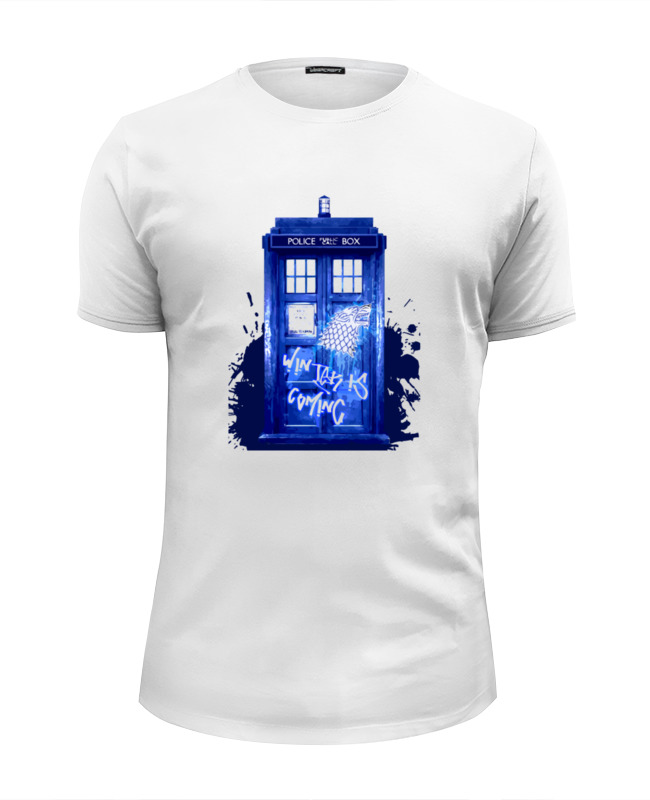 Футболка Wearcraft Premium Slim Fit Printio Tardis is coming футболка wearcraft premium slim fit printio tardis doctor who