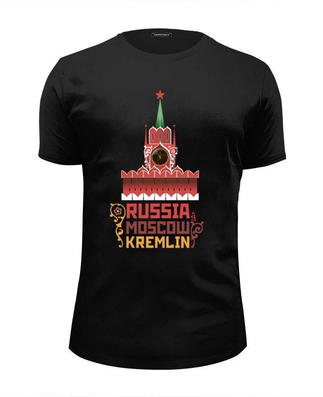 Футболка Wearcraft Premium Slim Fit Printio Москва, кремль (россия) выставной в кремль 2222 ярославское шоссе