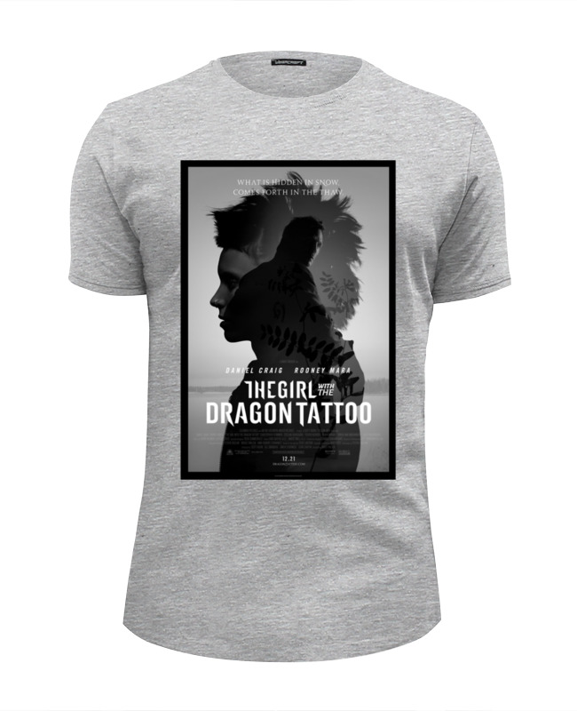 Printio Девушка с татуировкой дракона футболка wearcraft premium slim fit printio girl tattoo page 3