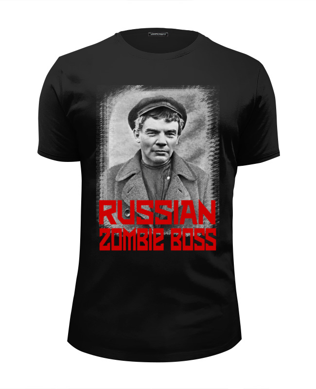 купить Футболка Wearcraft Premium Slim Fit Printio Lenin russian zombie boss по цене 1470 рублей