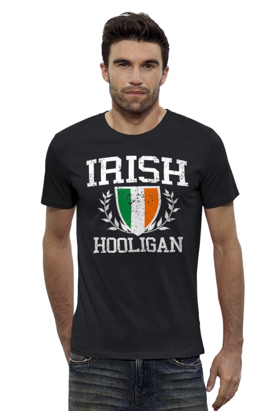 Футболка Wearcraft Premium Slim Fit Printio Ирландский хулиган футболка wearcraft premium slim fit printio хулиган