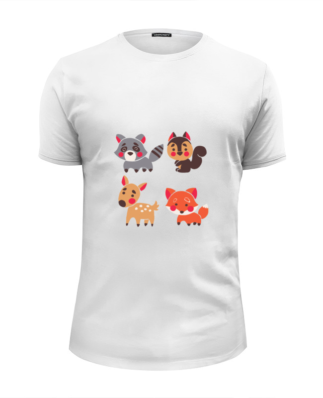Printio Милые животные футболка wearcraft premium slim fit printio милые кошки