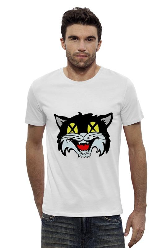 Футболка Wearcraft Premium Slim Fit Printio Кот (cat) лонгслив printio космо кот space cat