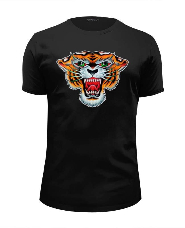 Футболка Wearcraft Premium Slim Fit Printio Tiger old school футболка wearcraft premium slim fit printio programmer old school