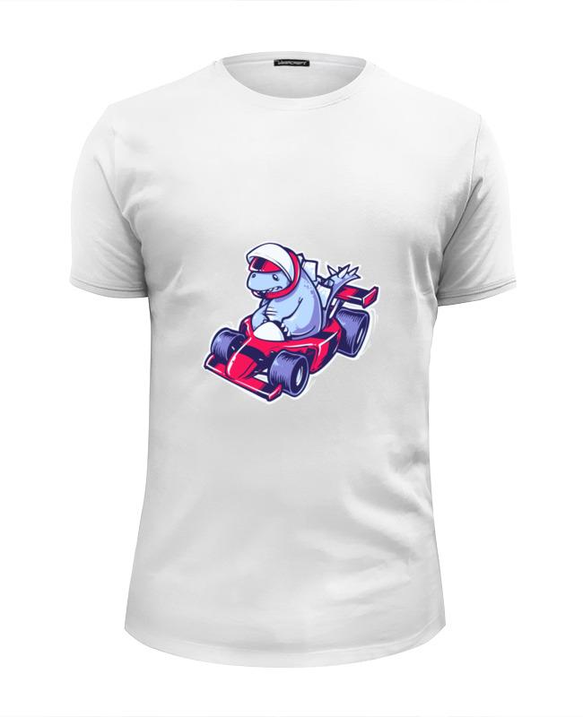 Футболка Wearcraft Premium Slim Fit Printio Динозавр на картинге футболка wearcraft premium slim fit printio пати на хате