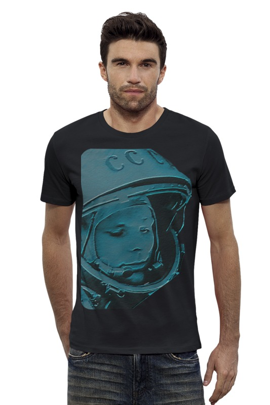 Футболка Wearcraft Premium Slim Fit Printio Гагарин футболка wearcraft premium slim fit printio космонавт