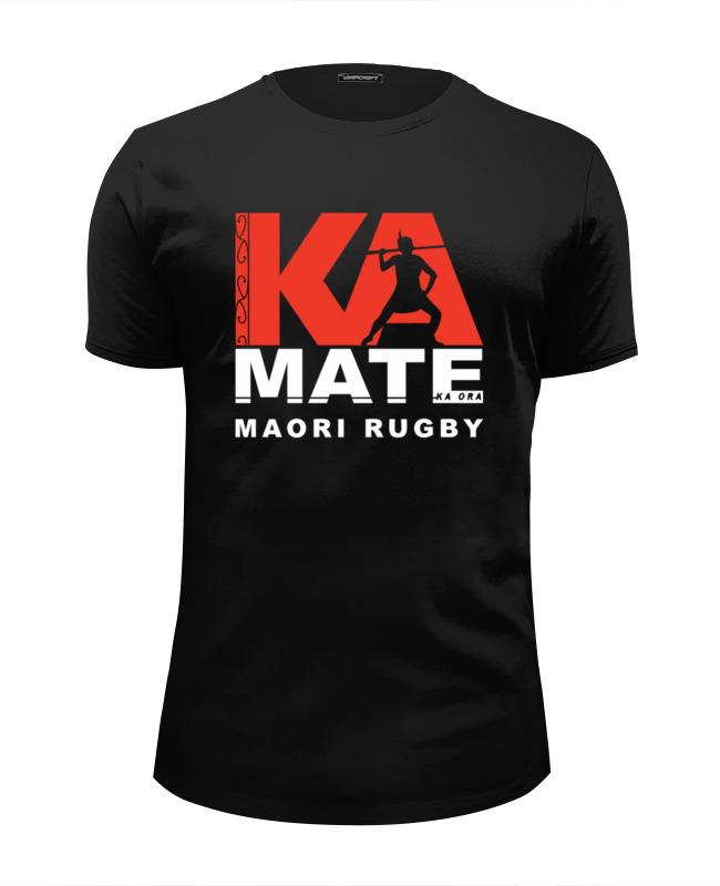 Футболка Wearcraft Premium Slim Fit Printio Maori rugby