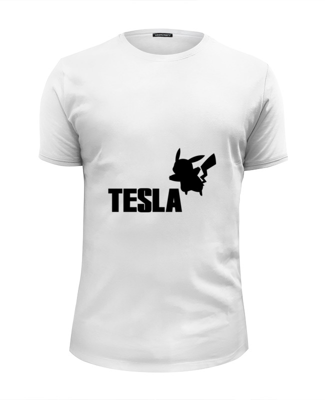 Футболка Wearcraft Premium Slim Fit Printio Tesla