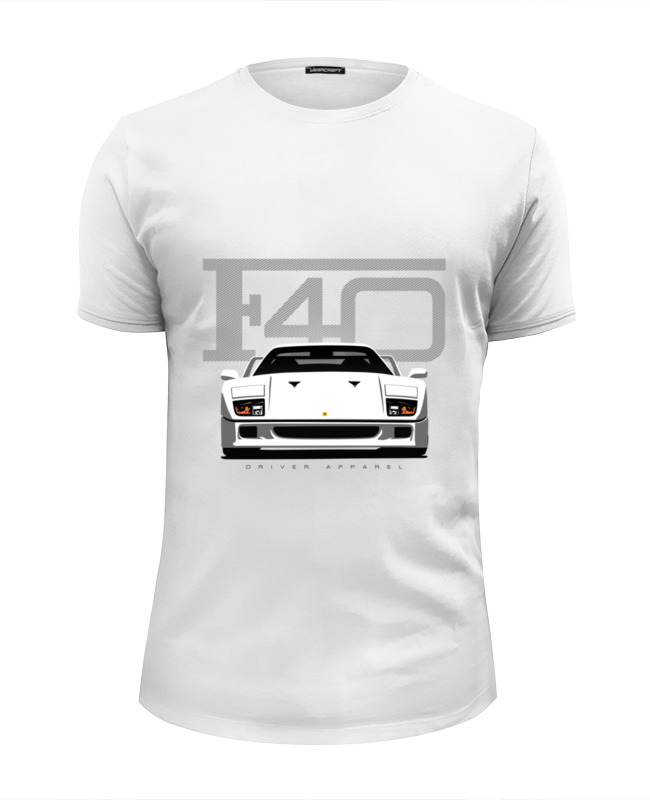Футболка Wearcraft Premium Slim Fit Printio Ferrari f40 футболка print bar ferrari