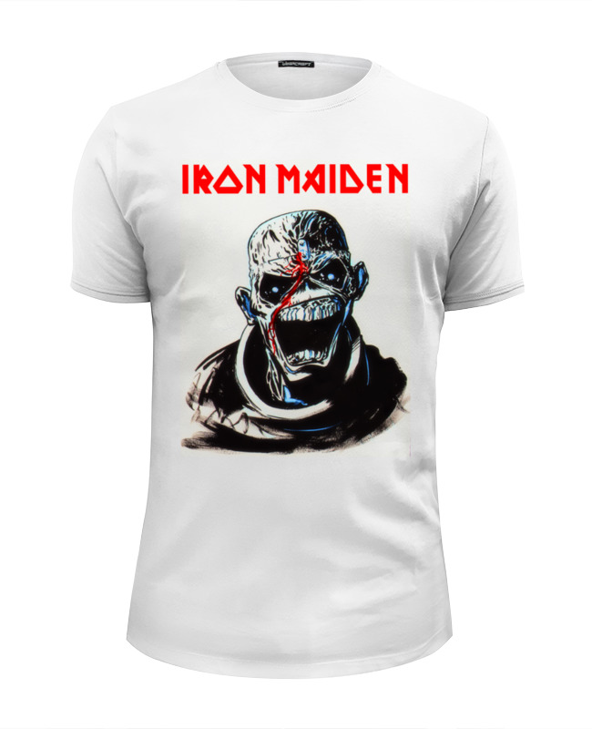 Футболка Wearcraft Premium Slim Fit Printio Iron maiden band cd iron maiden a matter of life and death